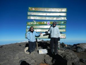 Sign at the summit