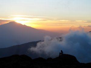 Sunset view of mount kilimanjaro