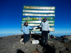 The sign at the summit