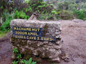 3000 meter rock marker