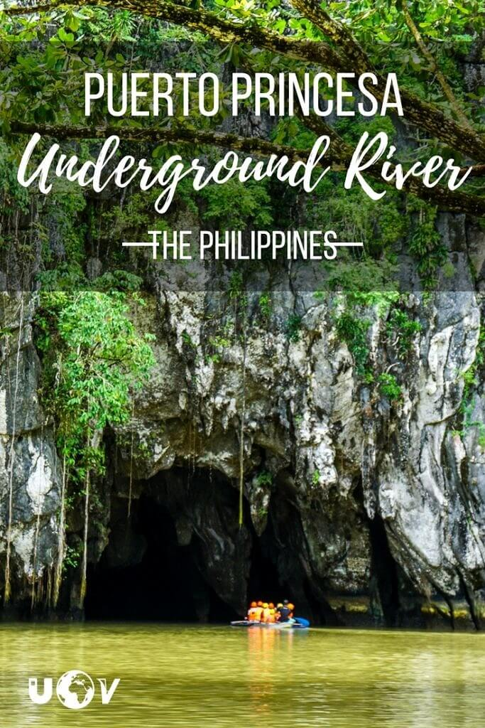 The underground river national park on Palawan in The Philippines is a UNESCO world heritage site and beautiful day trip for you travels.