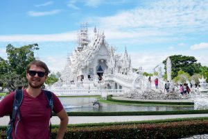 ron in front of the white temple