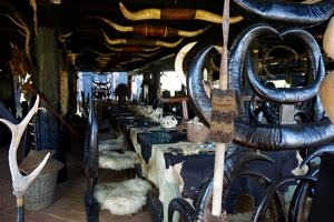 horn chairs and table