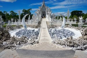 front of the white temple
