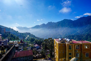 View of Sapa Vietnam from our hostel