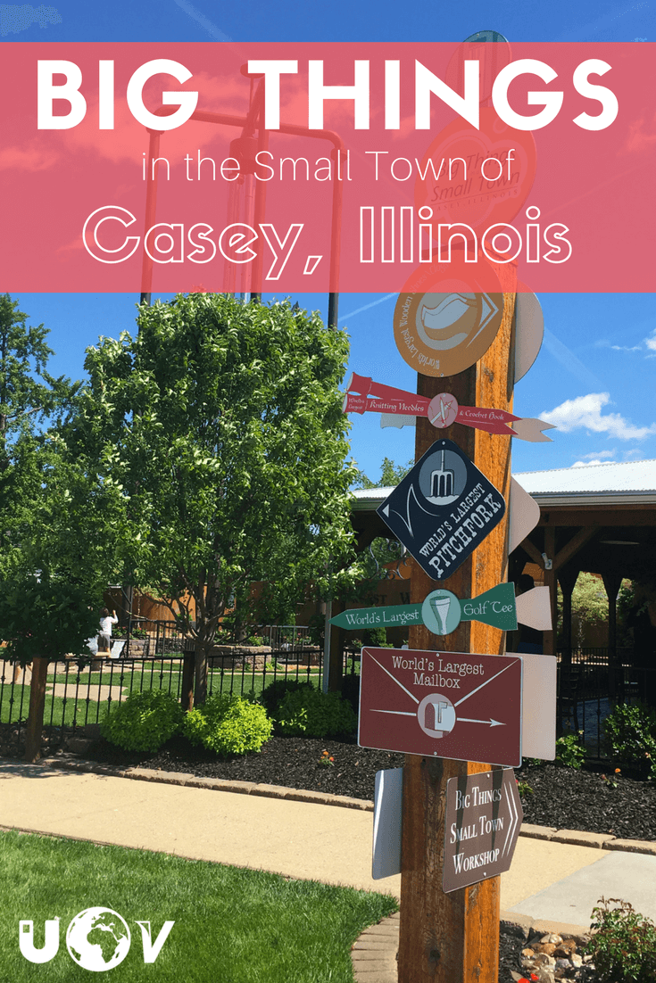 The worlds largest rocking chair, wind chime, mailbox and much more can all be found in the small town of Casey Illinois. Big things in a small town.