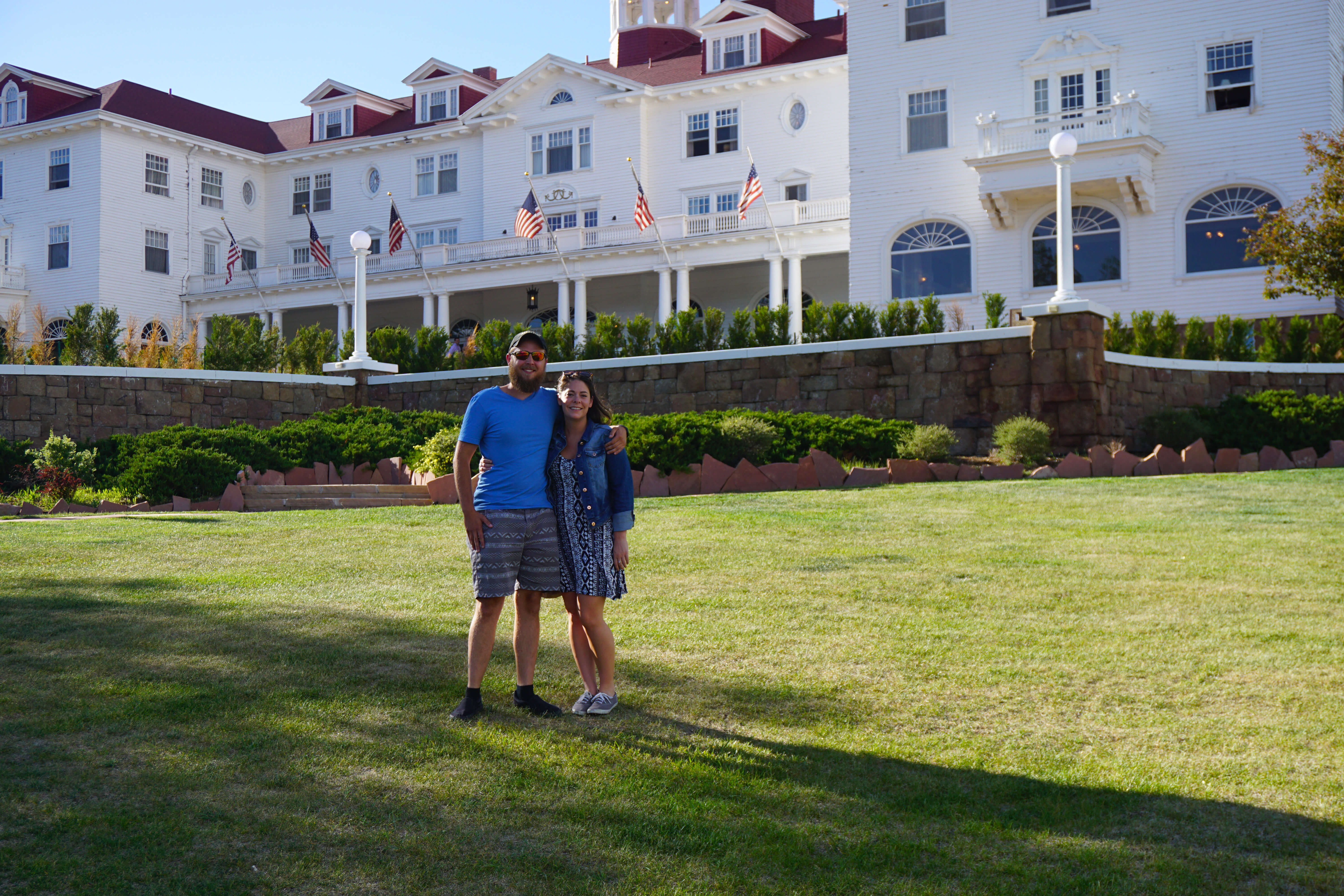 Us in front of The Stanley Hotel