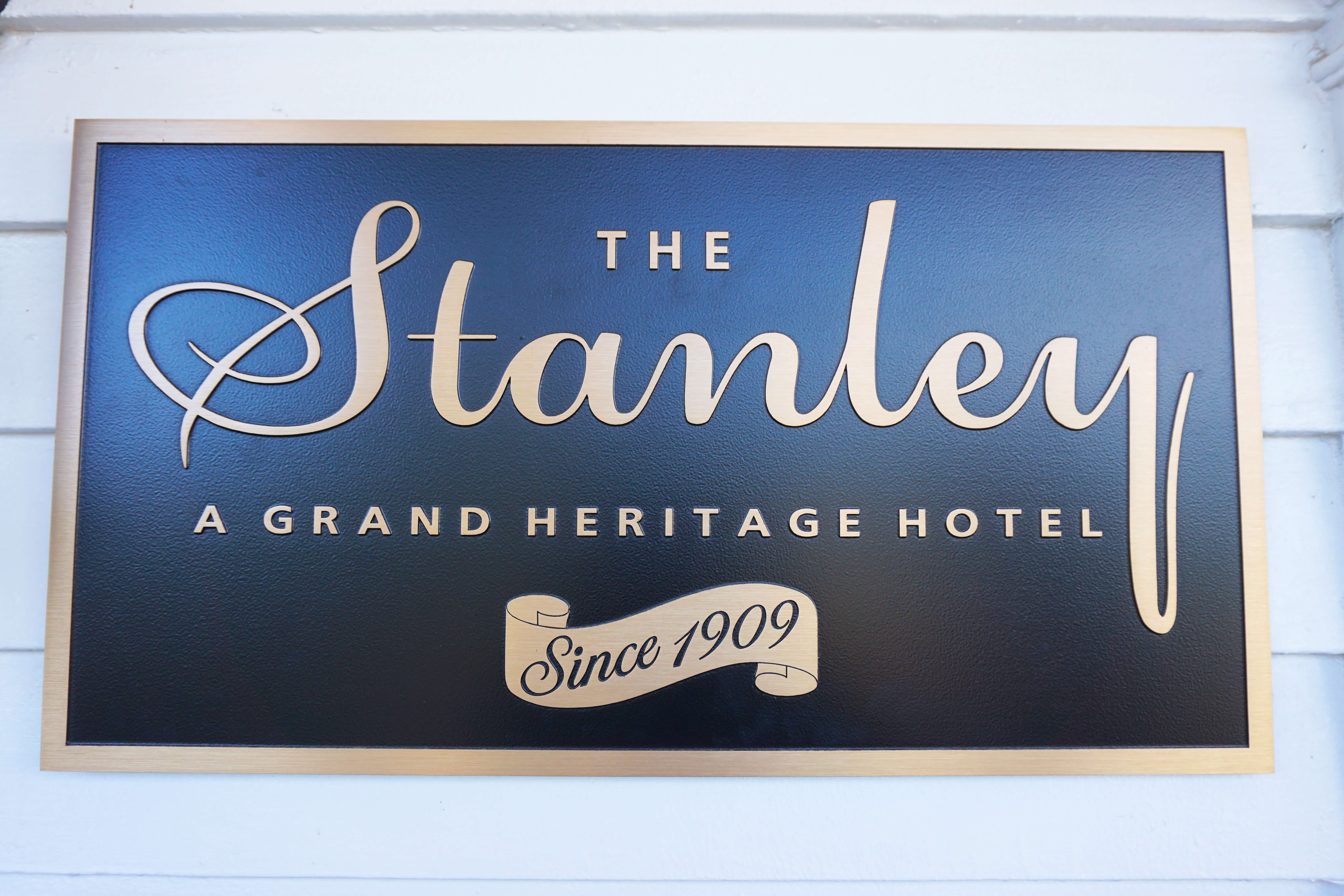 The Stanley Hotel Historical Plaque