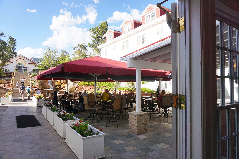 Restaurant on the hotel patio