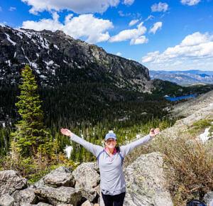 Jess on the hiking trail