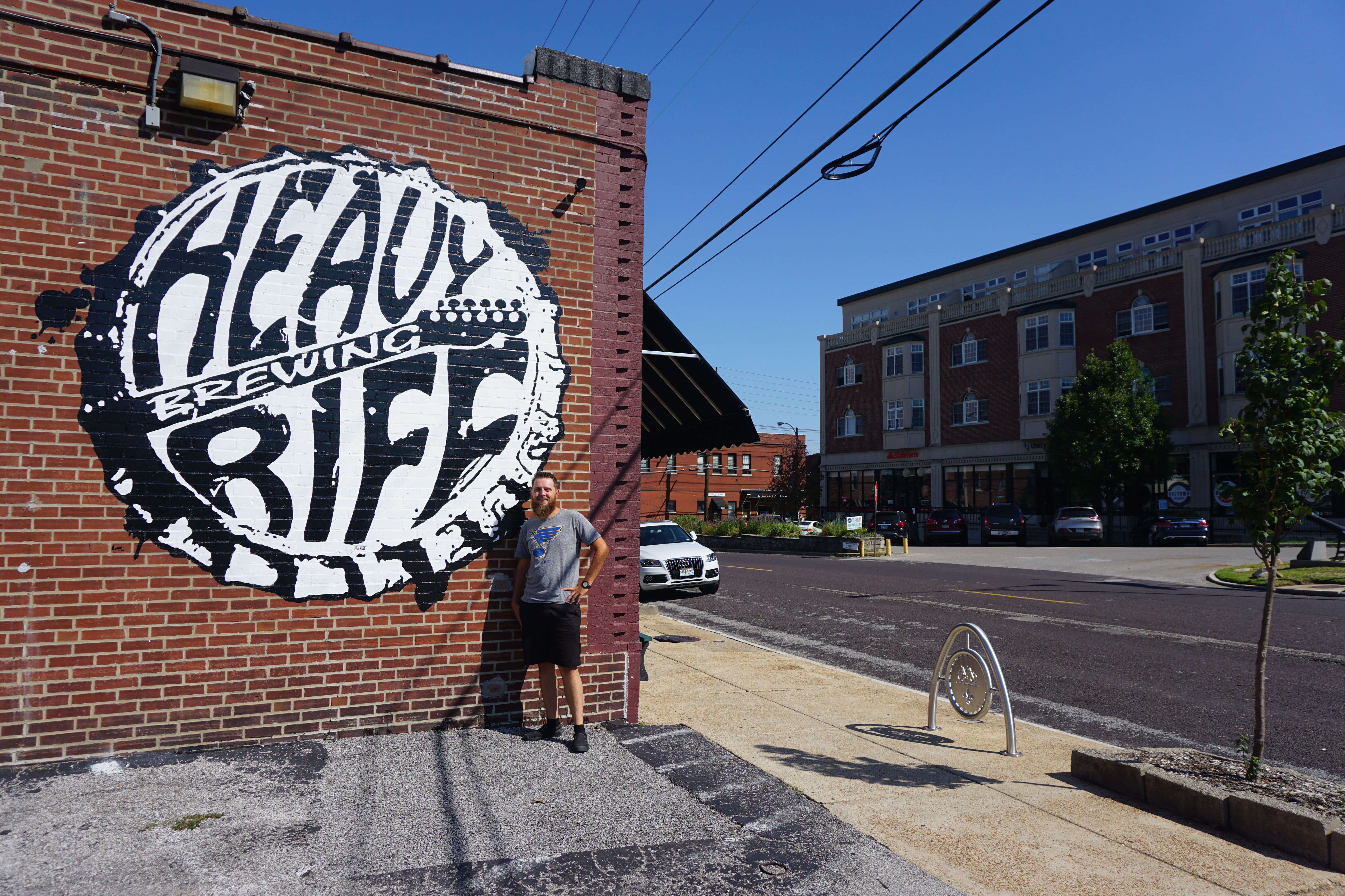Mural outside Heavy Riff Brewery