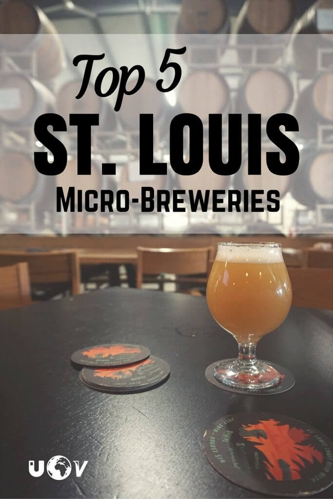 5 of the best lesser known craft breweries of St. Louis. Beer drinkers of all types will love the tasty beers these microbreweries have to offer!