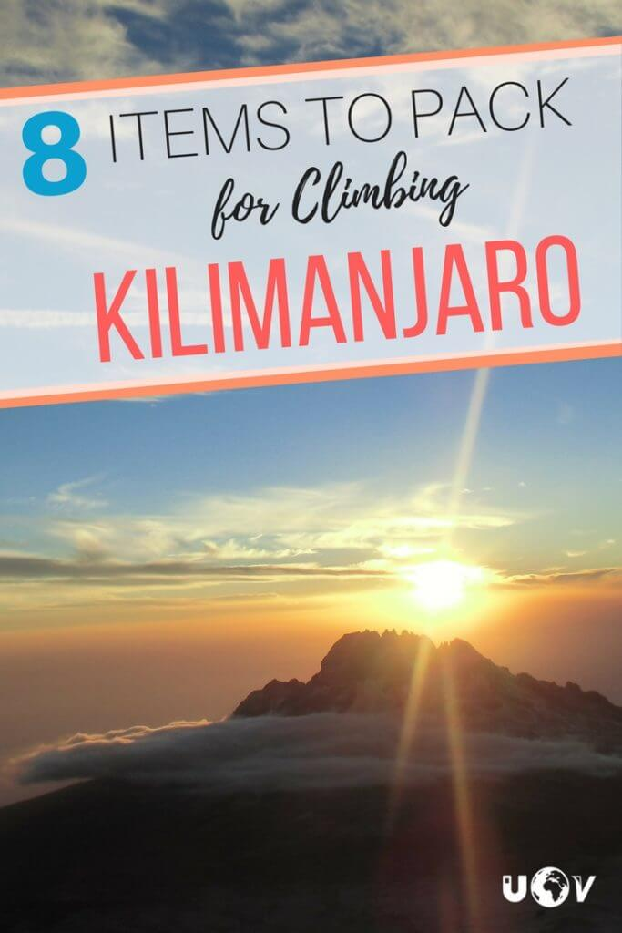 A list of important things to bring from home for climbing Kilimanjaro in Tanzania. Know that you're prepared before you leave for Africa!